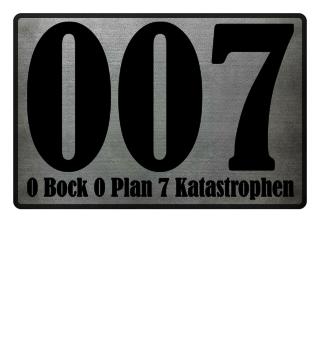 0 bock 0 plan 7 katastrophen - schwarz