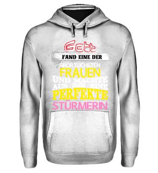 Gott Sport Frau Geschenk Stürmerin