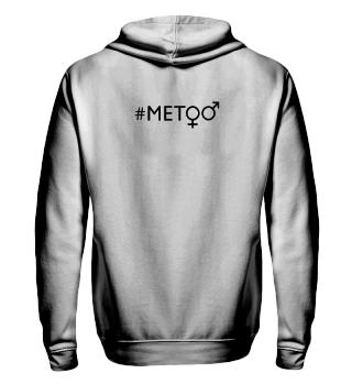 hashtag metoo - gender symbols - black