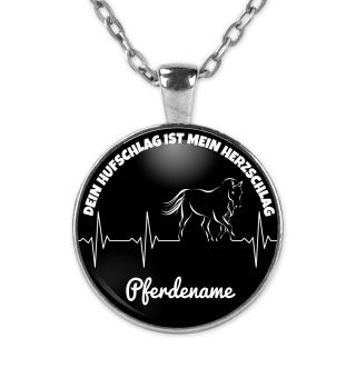 Sonderedition Pferdename - Kette schwarz