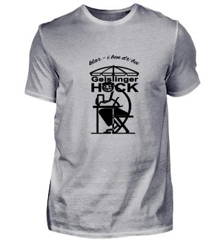 Geislinger Hock, großes Logo vorne, Text klar - i ben dr'bei