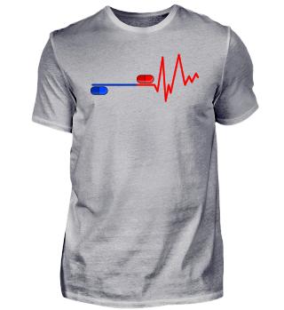 EKG Rote Blaue Pille