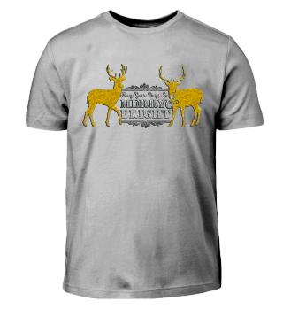 ★ Merry Bright - Vintage Deers IV