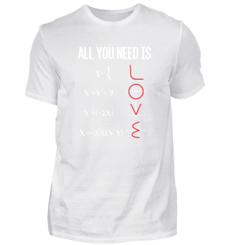 ALL YOU NEED IS LOVE FUNNY MATH GIFT