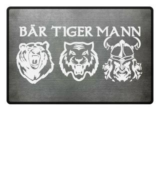Bär Tiger Mann Bartträger Fußmatte