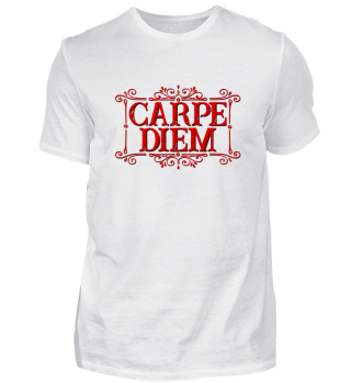 CARPE DIEM - vintage frame red T-Shirt