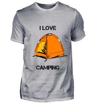 I love Camping Zelt Design Geschenk
