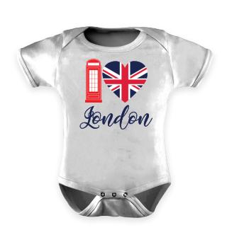 I Love London - Herz - Heart - Geschenkidee - Gift Idea - Great Britain - England - Sight Seeing City Trip - Städtereise - Auslandsjahr - Au Pair - Reiselust - Tourist - Tourismus - Skyline - Big Ben - Kensington Palace - Buckingham Palace, London Eye