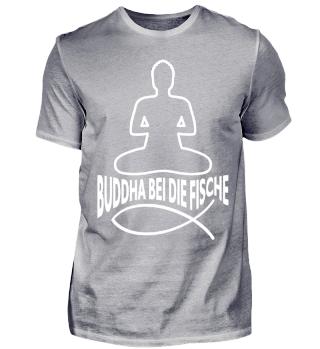 Buddha bei die Fische - weiss