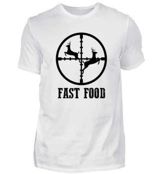 Fast Food Jäger Jagd Jagen Hirsch