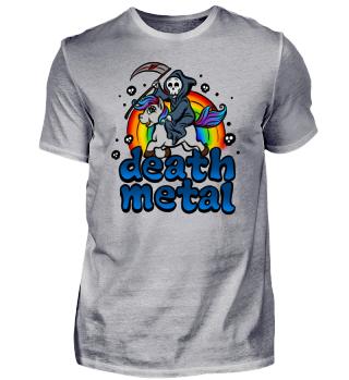 Death Metal Einhorn Pony Regenbogen