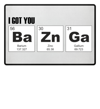 Chemical Elements - got BaZnGa - black 2