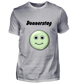 Stimmungs-Shirt Donnerstag, hell