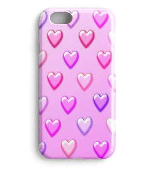 Handy-Case mit Herzen