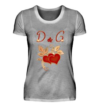 Paarshirt D und G Initialen