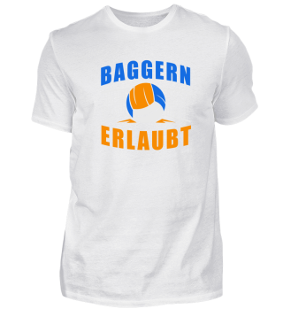 Baggern erlaubt! Volleyball Design