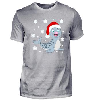 Weihnachts Baby Robbe Santa Claus