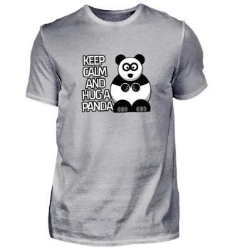Keep calm and hug a panda sweet gift