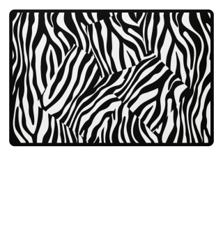 ♥ Zebra Stripes Art Black White