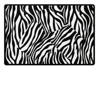 ♥ Zebra Stripes Art Black White