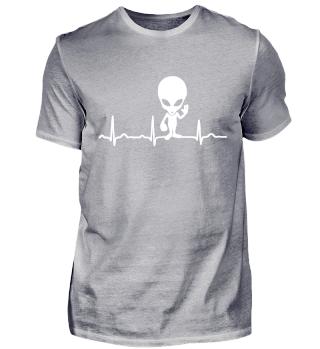 GIFT- ECG HEARTLINE ALIEN WHITE
