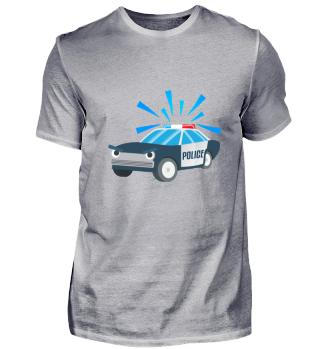 Kindermotiv: Polizeiauto im Einsatz