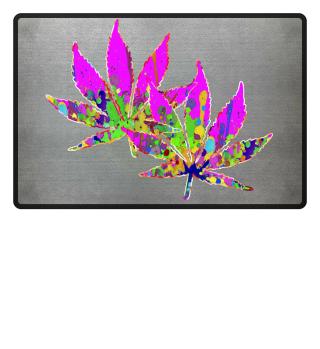 ★ Crazy Colored Marijuana Leaves 3