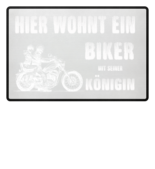 Biker Königin Chopper Fussmatte