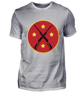 T-Shirt Jäger jagen Gewehr Stern
