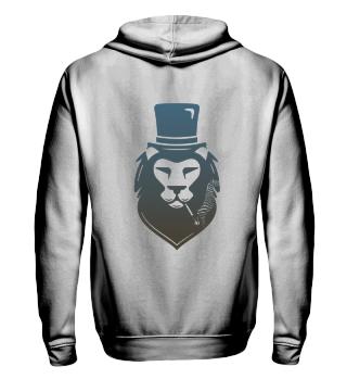Ziphoodie&Collegejacke- Smoking Lion