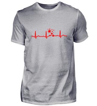 GIFT-ECG HEARTLINE STARS RED