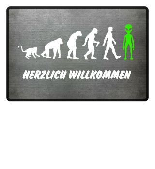 Evolution Of Humans - Green Alien IIa