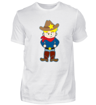 Kindermotiv: Dieser coole Cowboy Sheriff