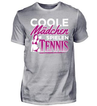 Coole Mädchen Spielen Tennis