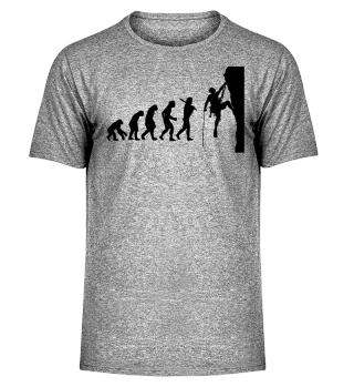 Climber Climbing Gift Evolution Shirt