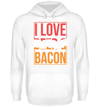 Bacon Tshirt I Love Beer Gift BBQ