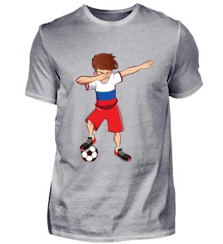Dabbing Russland Fussballer T-Shirt