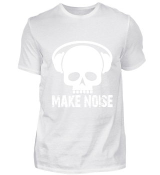 Skull make noise headphones metal rock