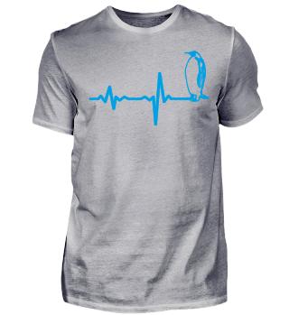Heartbeat penguin blue gift