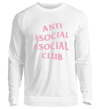 ANTI ASOCIAL ASOCIAL CLUB SWEATER BLACK