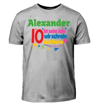 Geburtstags-Shirt zum Bemalen - 10 Jahre