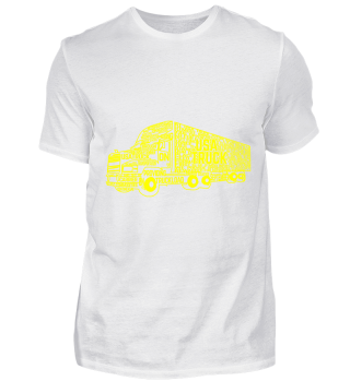 GIFT- TRUCK LONG LOAD YELLOW
