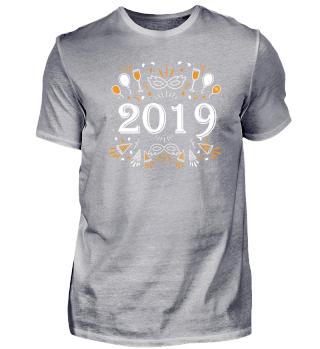 Silvester T-Shirt Geschenk Party 2018
