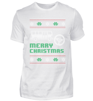 Funny Busdriver Shirt Merry Christmas