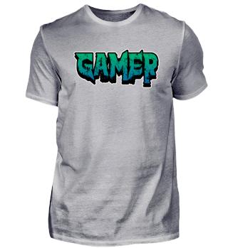 Gamer Schrift Videospiel Zocken PC Nerd