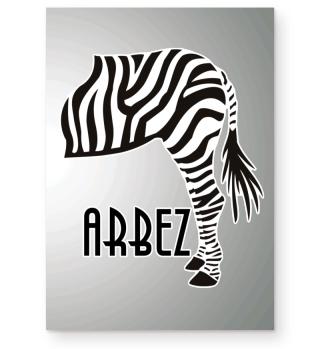 ARBEZ Zebra von Hinten - black white 3