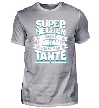 Tante Geschenk Spruch Familie Superheld
