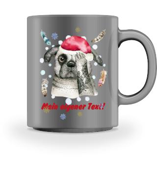 ☛ Merry Christmas · Boho Dog #9CPT