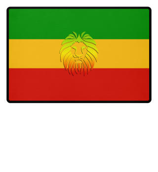 ★ Rastafari Lion Flag green yellow red