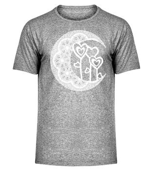 ★ Half Moon Mandala - Love Hearts 2